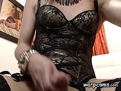 Lewd Stroking Tranny Escort